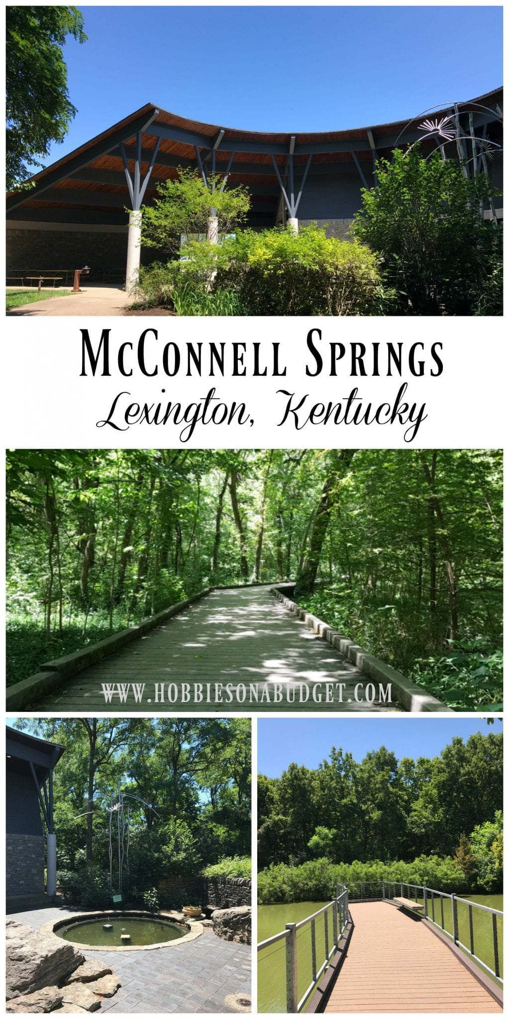 We love being outdoors in nature. There's just nothing better than enjoying time with family while hiking on a gentle trail through the woods.  McConnell Springs is a hidden treasure in the heart of downtown Lexington that we have come to love. And the price is FREE!
