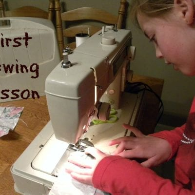 First Sewing Lesson