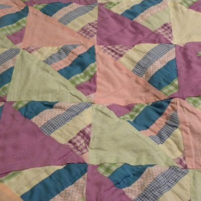 Baby Girl's Pastel Quilt