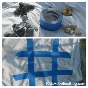 Tic Tac Toe at the Beach (image used by permission)