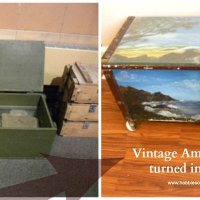 Vintage Ammo Trunk into Art