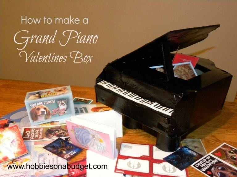 How to make a Grand Piano Valentines Box