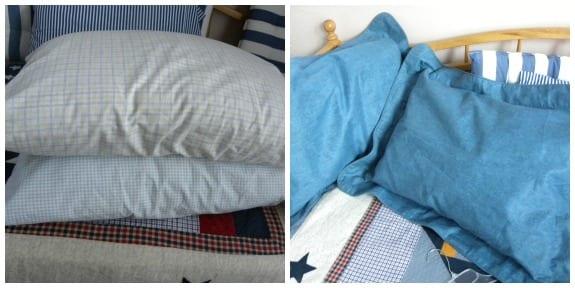 HIde guest pillows in pillow shams