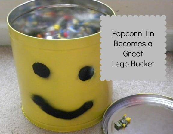 popcorn tin lego man