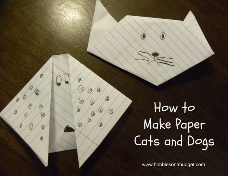 How to Make Paper Cats and Dogs