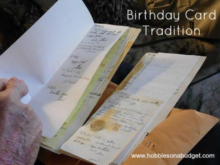 Birthday Card Tradition
