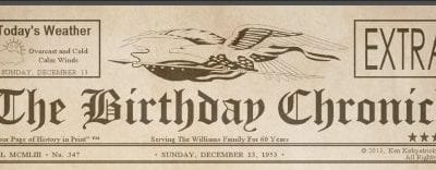 A Fun Way to Celebrate Birthdays
