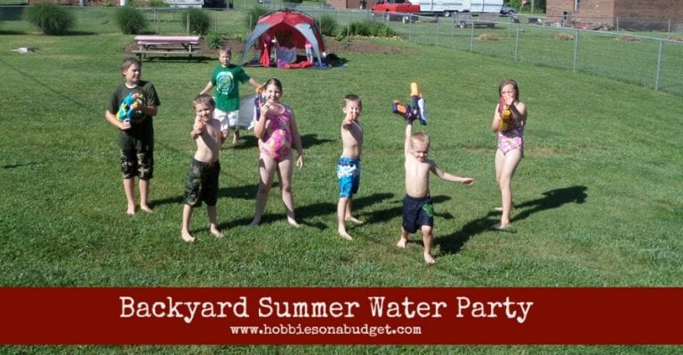 Backyard Summer Water Party