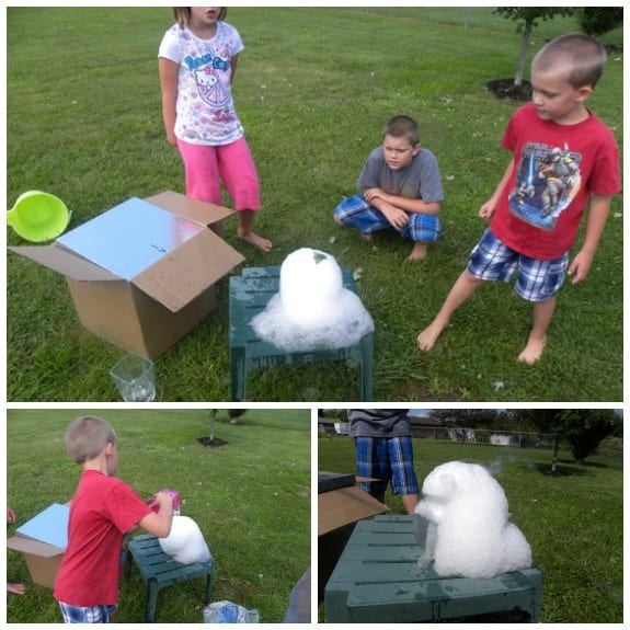 experiments with dry ice
