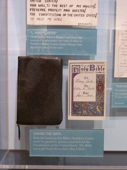 The Bible used at President Carter's Inaugeration