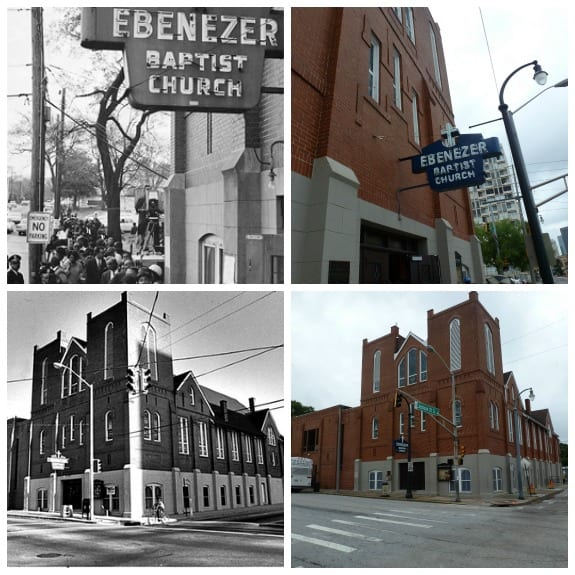 Ebeneezer Baptist Church Now and Then