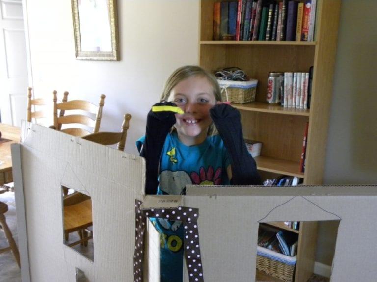 Creativity with Socks and Cardboard