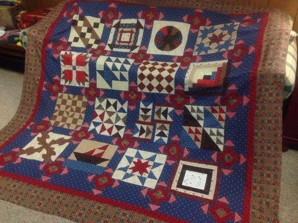 Underground Railroad Sampler Quilt Top Hobbies On A Budget
