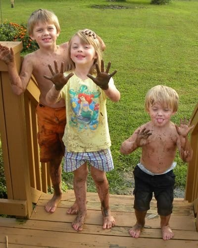 kids and mud #motherfunny