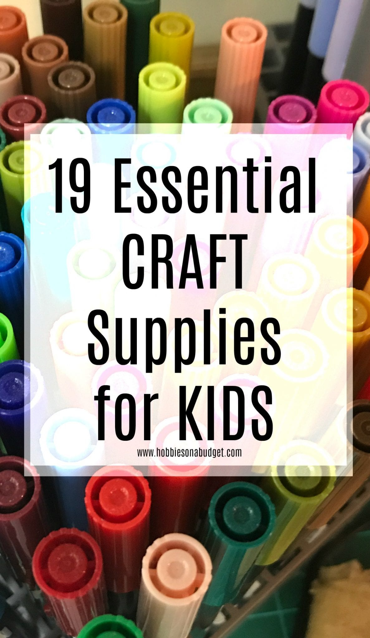 Whether it's a toddler needing to learn to finger paint, a kindergarten student who is ready for a family art project or a nephew who has been dropped off on a hot summer day, I've got the list of 19 essential craft supplies every family should have on hand.