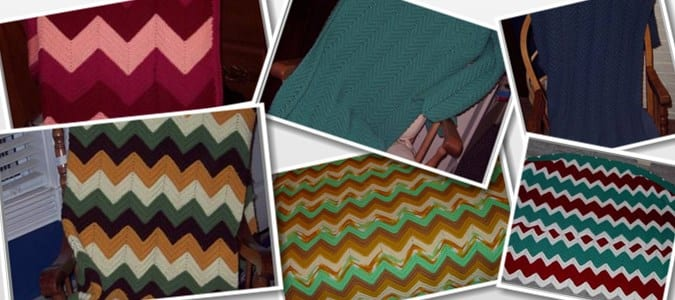 chevron afghan colors