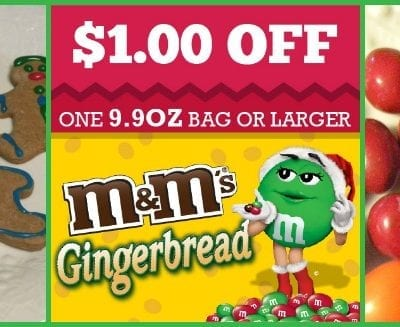 Holiday Snacks Gingerbread M&Ms