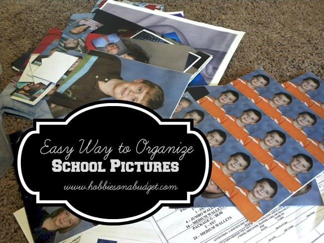 organize school pictures