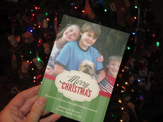 Easy Personalized Christmas Cards
