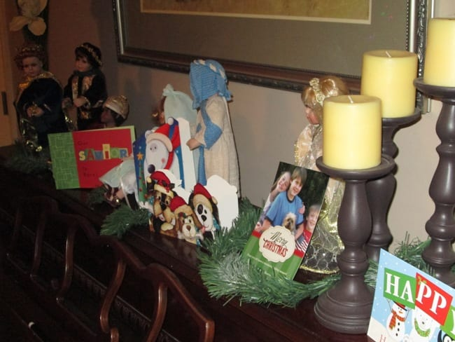 card on mantle