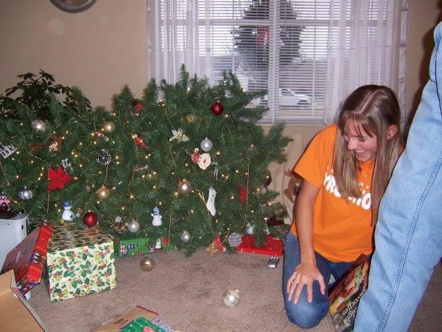 Christmas Tree Feel Down on Christmas Morning