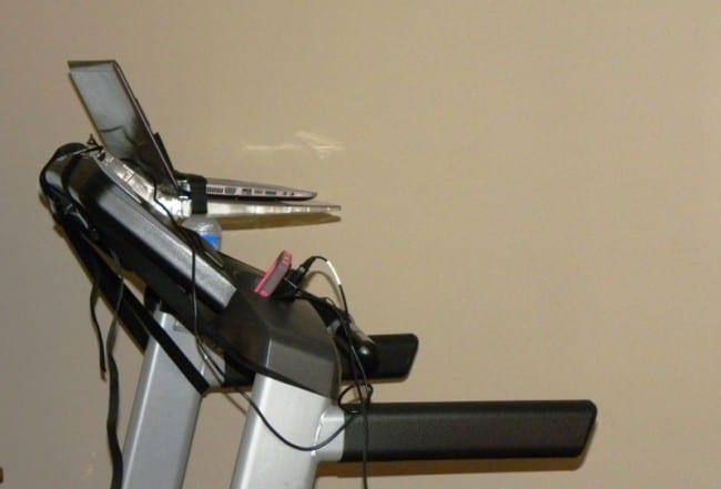 surfshelf on treadmill