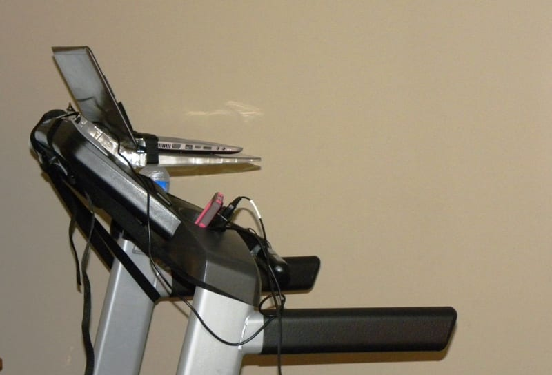 surfshelf on treadmill