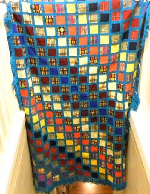 blue squares quilt #onlinequiltshow