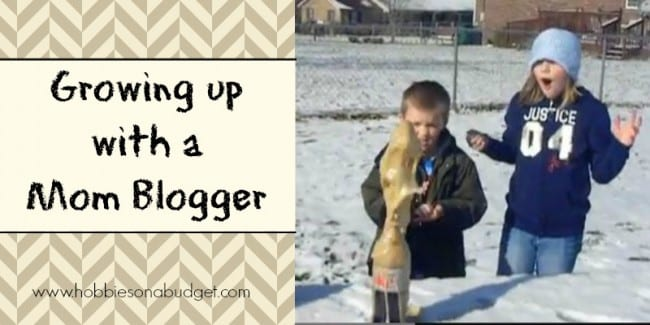 growing up with a mom blogger