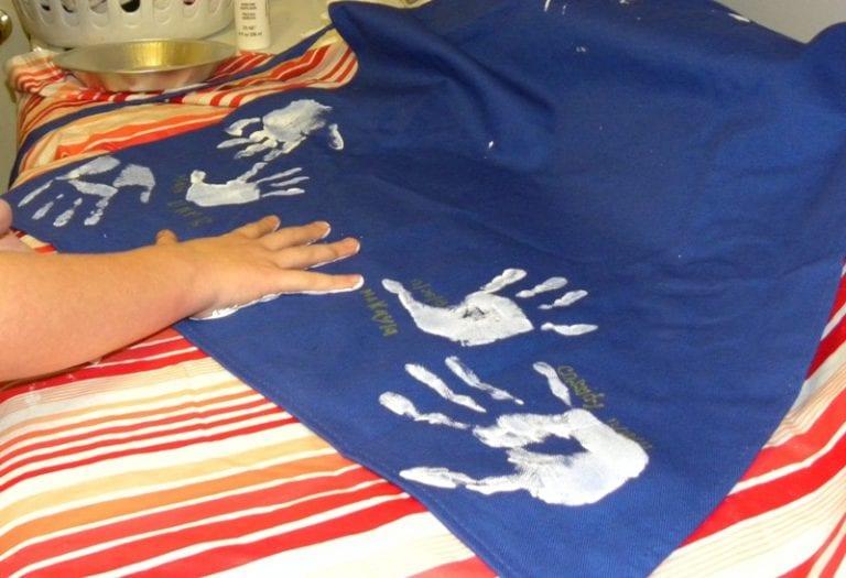 DIY Handprint Apron & Curtains
