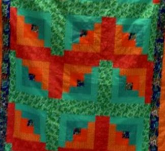 Cullen's Modified Log Cabin Quilt