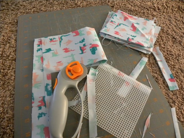 spring quilt cutting