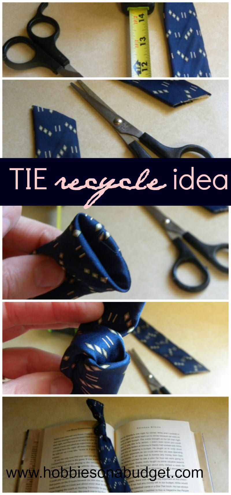 How to turn an old tie into a bookmark