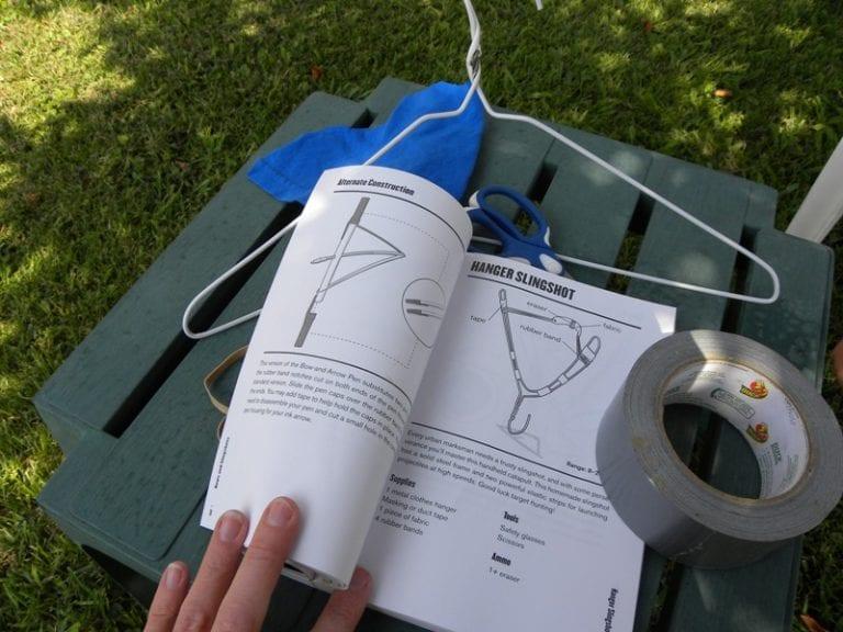 How to make a Clothes Hanger Slingshot