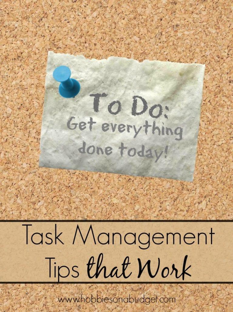 Task Management Tips that Work