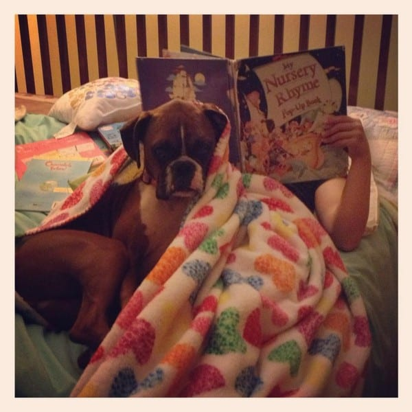 lara child dog reading_tn
