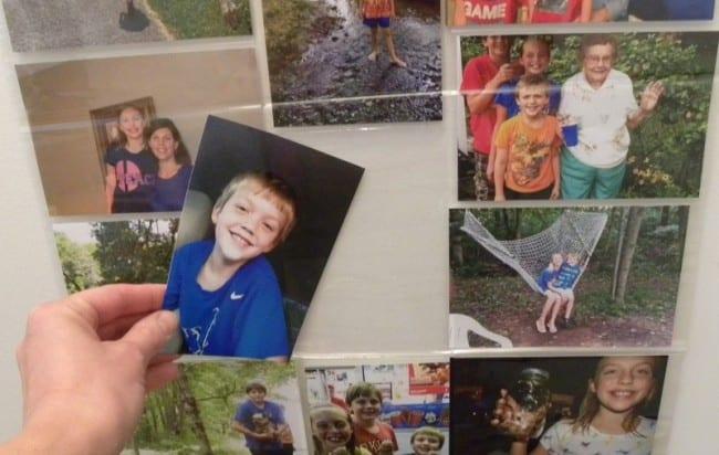display photos on wall