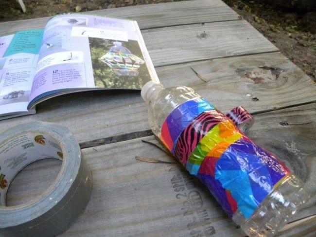 Duck Tape Bottle Craft 2