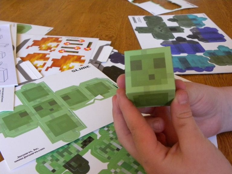 Minecraft Papercraft Gift Idea