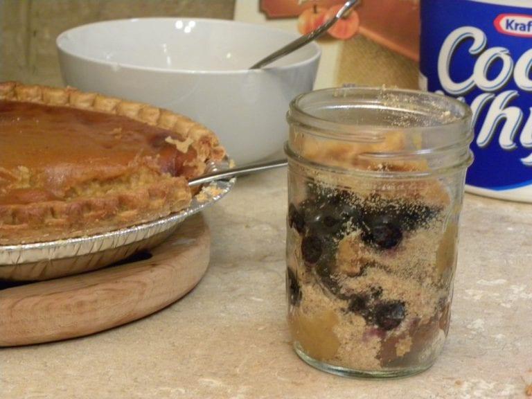 Blueberry Pumpkin Pie in a Jar