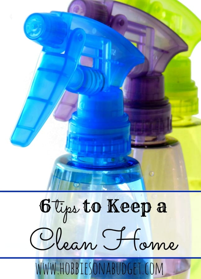 6 Tips to keep a clean home