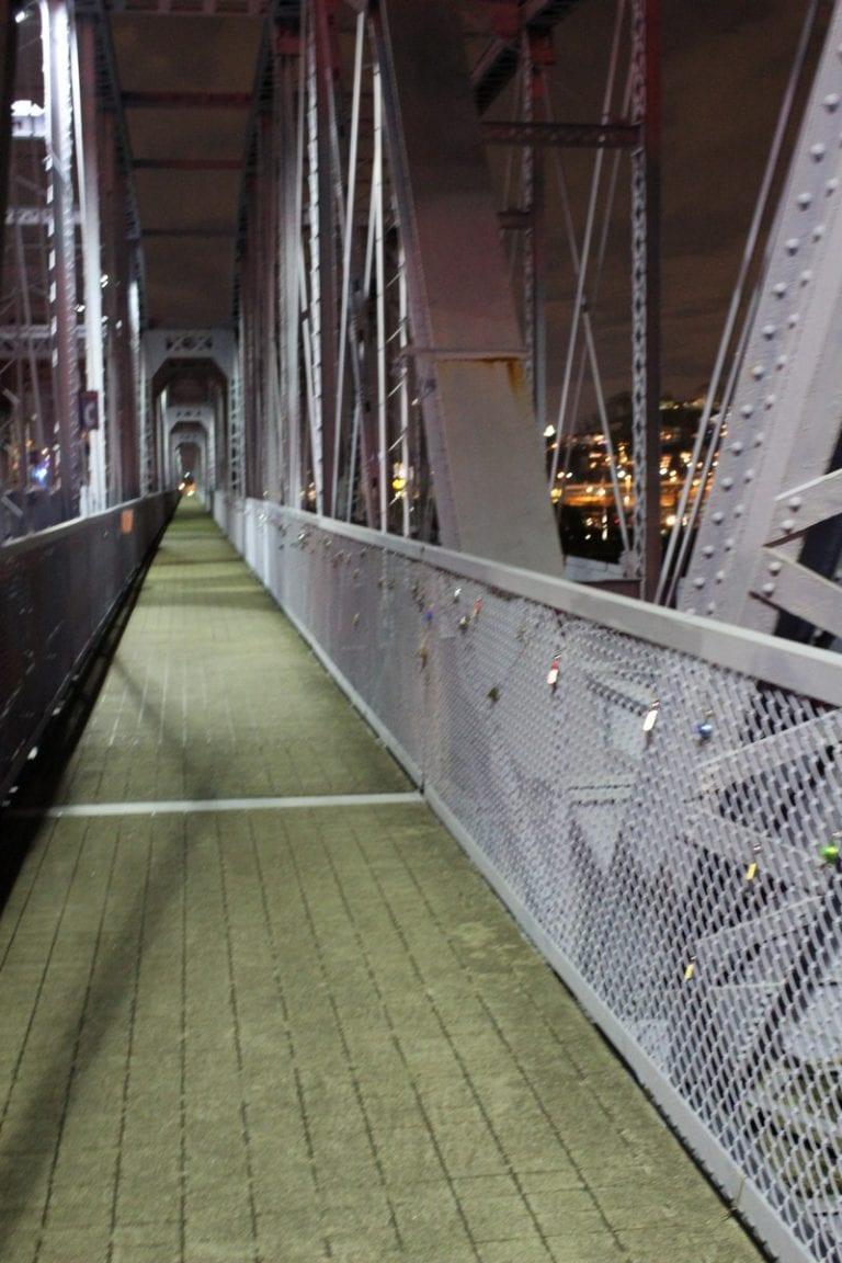 Love Locks on the Purple People Bridge