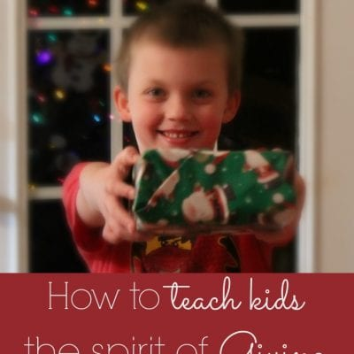How to Teach Kids the Spirit of Giving