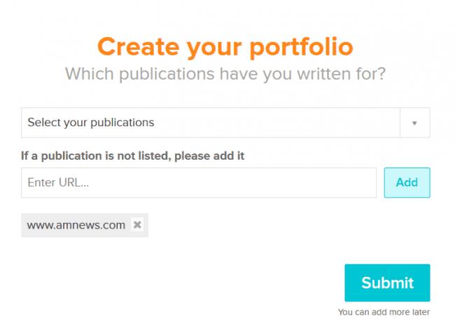 create your portfolio 1