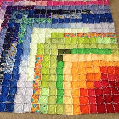 Rainbow Rag Quilt