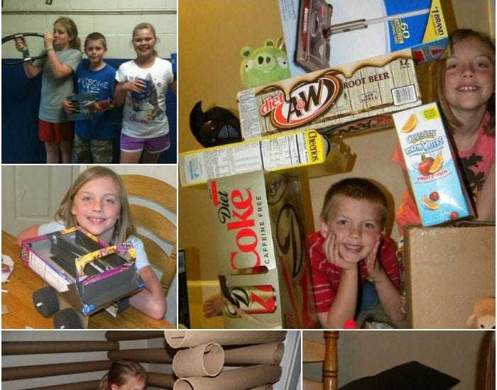 What will you make with a cardboard box? Check out these ideas for recycling cardboard into crafts and fun!
