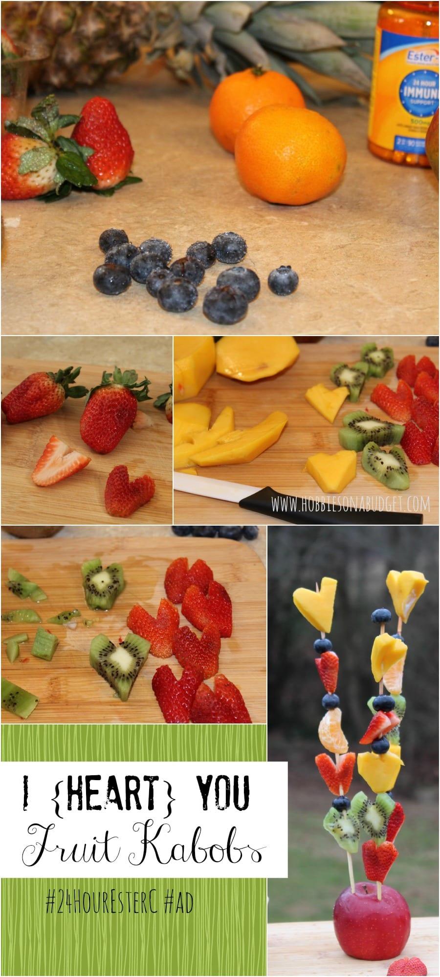 i heart you fruit kabobs