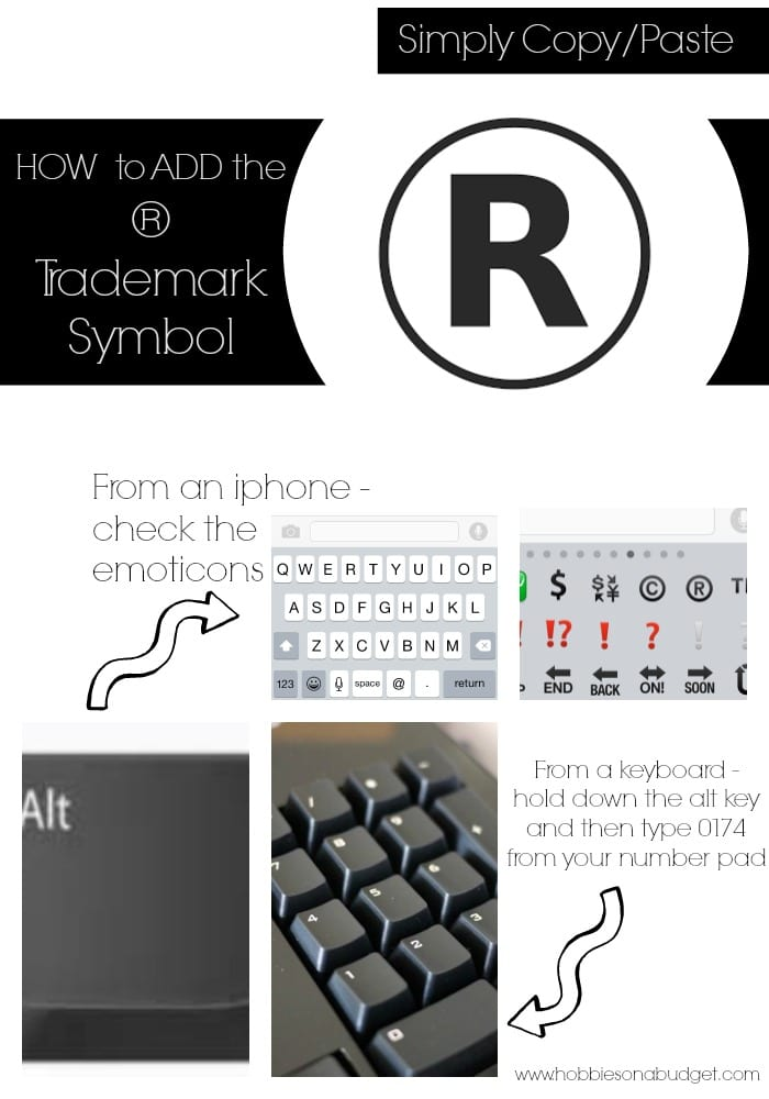 how to make trademark sign