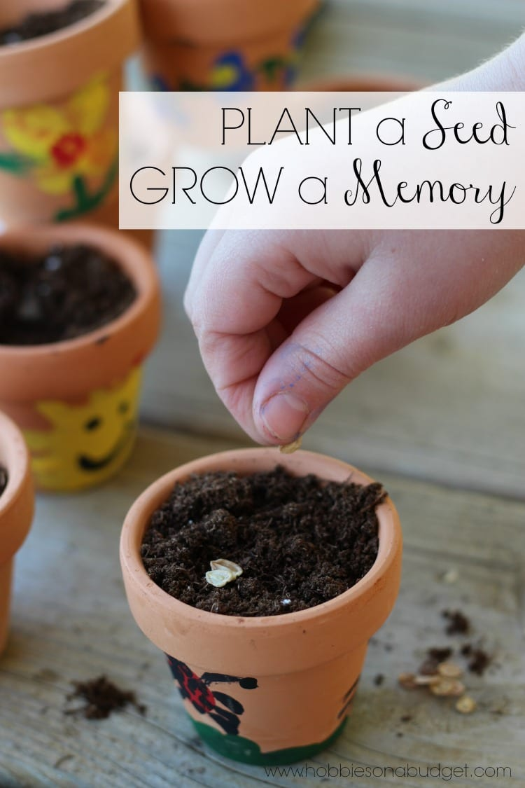 plant a seed - Thumbprint Flower pot