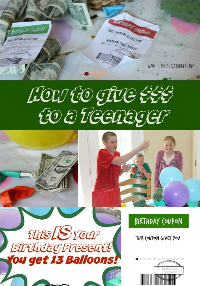 money to a teenager